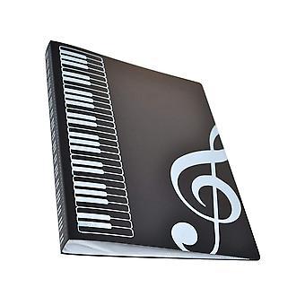 Sheet Music Folder, Plastic A4 Storage Rack For Treble Clef Musics Theme, Black