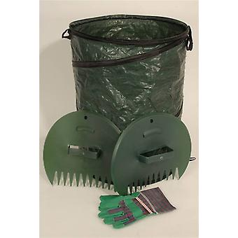 Pop-up Leaf Bag with Gloves