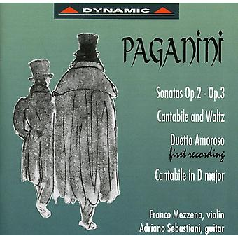 N. Paganini - Paganini: Sonatas Op. 2, Op. 3; Cantabile and Waltz; Duetto Amoros; Cantabile in D Major [CD] USA import