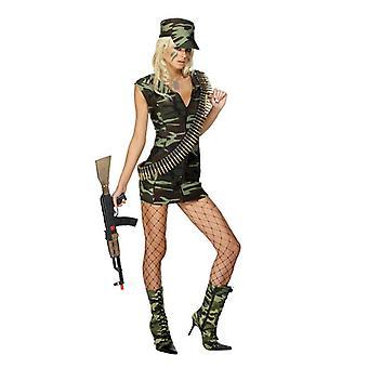 Sexy militaire meisje kostuum soldaat fighter