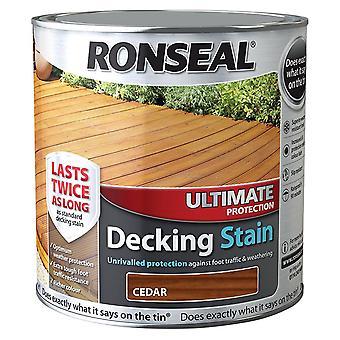 Ronseal 2,5 liter ultimative beskyttelse pyntede pletten - cedertræ