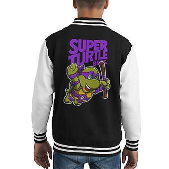Varsity Jacket de l'enfant-Mario Bros-TMNT Super Donnie tortue