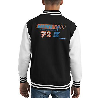 Haynes Brand Chiba City Racing 72 Distressed Kid's Varsity Jacket