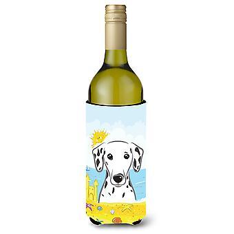 Dalmatinischen Sommer Strand Weinflasche Getränk Isolator Hugger