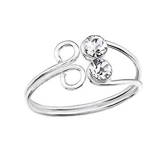 Flower - 925 Sterling Silver Toe Rings - W28620x