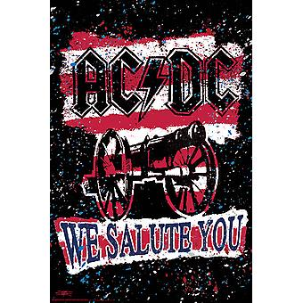 ACDC We Salute your Stripes Poster Poster Print by Stephen Fishwick