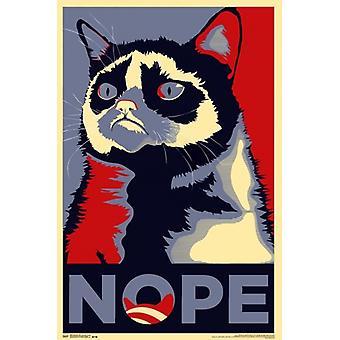 Grumpy Cat - Nope Poster afdrukken