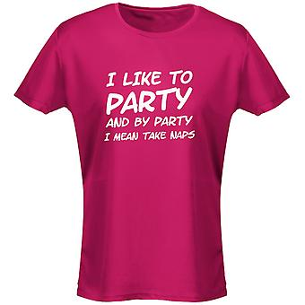 I Like To Party And By Party I Mean Take Naps Womens T-Shirt 8 Colours by swagwear