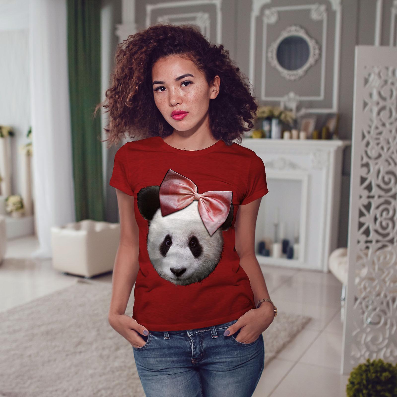 Ruban de panda mignon femmes RedT-chemise   Wellcoda