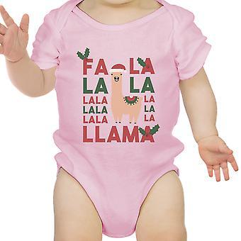 Faustini Llama primo natale neonato Body regalo rosa per bambina