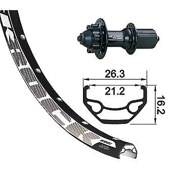 XLC 27, 5 bakhjulet Rodi Black Rock plate + XLC Evo 6-hulls 8-10-fold