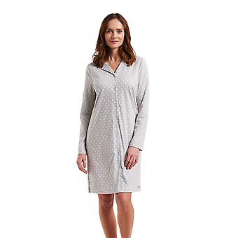 1183537-12554 Femmes-apos;s Smart Casual Cloud Grey Spotted Night Gown Loungewear Nightdress