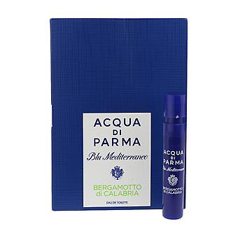 Acqua Di Parma 'Blu Mediterraneo Bergamotto Di Calabria' EDT 1.2ml Vial On Card