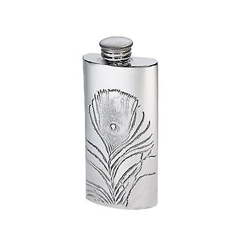 2Oz Peacock Pewter Purse Flask