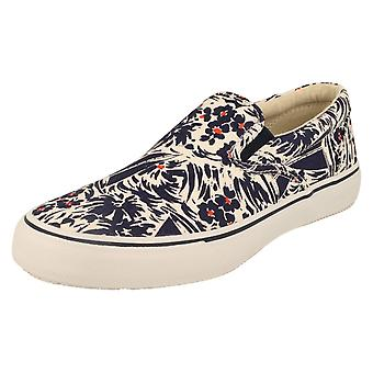 Mens Sperry This Sole Canvas Shoes Striper