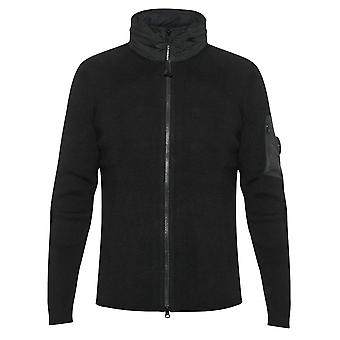 C.P. Company Concealable Hood Lens Black Knit Jacket