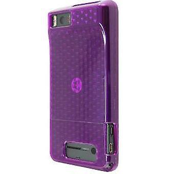 Verizon High Gloss Silicone Cover Case for Motorola Droid X MB810 / Motorola Droid X2 MB870 (Purple) (Bulk Packaging)