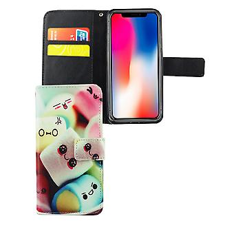 Mobile phone case pouch for phone Apple iPhone XS lettering marshmallows