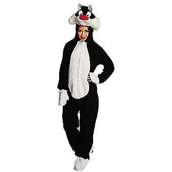 Sylvester Looney Tunes kostyme satt mens