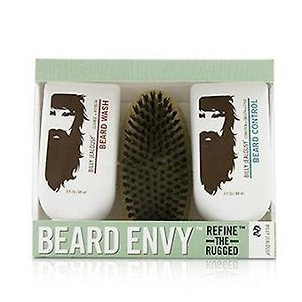 Billy avundsjuka Beard Envy Kit: Beard Wash 88ml + skägg kontroll 88ml + borste 1st-3st