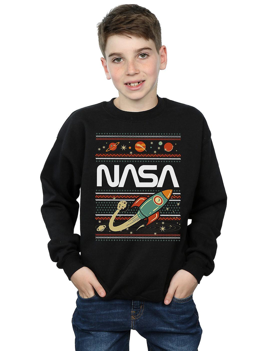 NASA Boys Fair Isle Sweatshirt