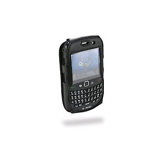 Sydney Harbour Genuine Black Fitted Leather Case Cover W/swivel Clip for Blackberry 8500 8520 8530