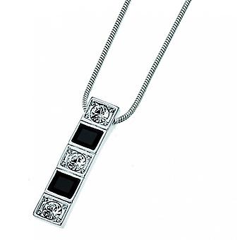 Oliver Weber Pendant Domino Rhodium Crystal