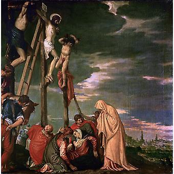 Le Calvaire, Paolo Veronese, 50x50cm