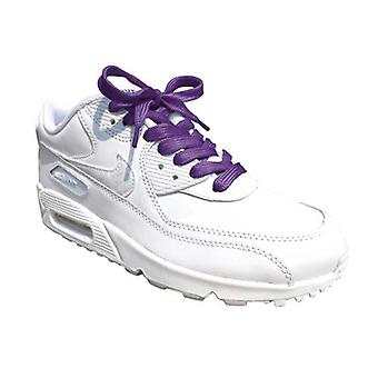 Purple Flat Trainer Laces