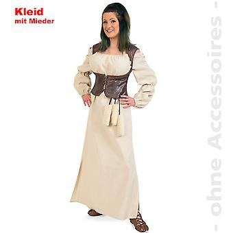 Barbarin meid gastvrouw kostuum dames middeleeuwse jurk dames kostuum