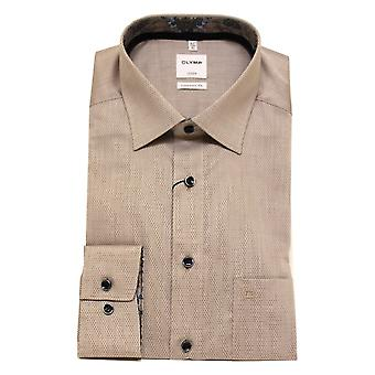 OLYMP Shirt 1000 34 28 Brown