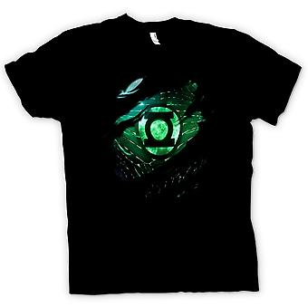 Mens T-shirt - The Green Lantern - Superhero Ripped Design