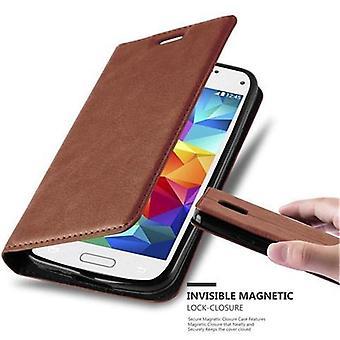 Cadorabo tapauksessa Samsung Galaxy S5 MINI / S5 MINI DUOS tapauksessa kansi - puhelimen tapauksessa magneettinen lukko, seistä toiminto ja korttiosasto - Kotelo cover suojakotelo tapauksessa tapauksessa taitto tyyli