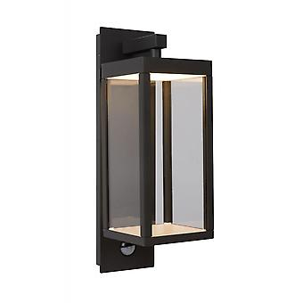Lucide Clairette Modern Rectangle Aluminum Black Wall Light