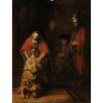 The Return of the Prodigal Son, Rembrandt, 50x38cm