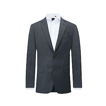 Dobell Boys Navy Suit Jacket Regular Fit Notch Lapel Windowpane Check