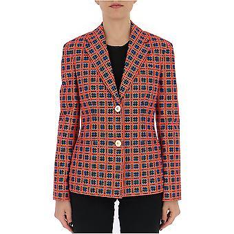 Versace Red Cotton Blazer