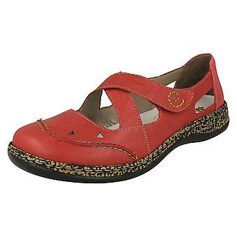 Corte damas Rieker zapatos detallados 46335