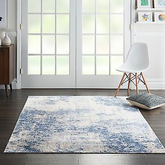 Seidigen Texturen SLY01 Elfenbein blaues Rechteck Teppiche moderne Teppiche