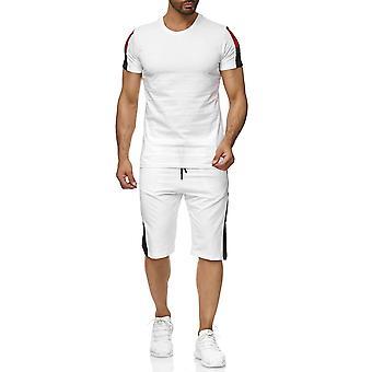 Mænd sport indstille T-Shirt Shorts Combi Tricolore to stykke kortærmet Jersey bukser
