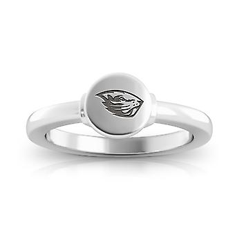 Oregon State University graviert Sterling Silber Siegel Ring