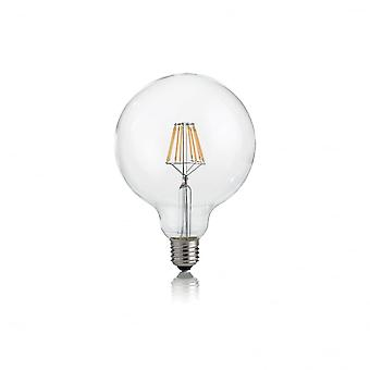 Ideal Lux Light Bulb Classic E27 8W Globo D95 Transparent 3000K