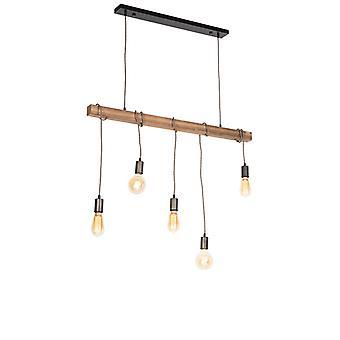 QAZQA Industrial suspendu lampe noire - Gallow