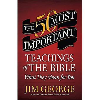 De 50 viktigaste lärorna i Bibeln: vad de betyder för dig