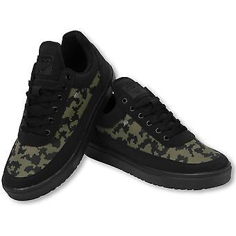 Shoes - Sneaker Low Case - Army Khaki Black