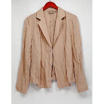 Kelly by Clinton Kelly Top Draped Front Long Sleeve Beige A252792