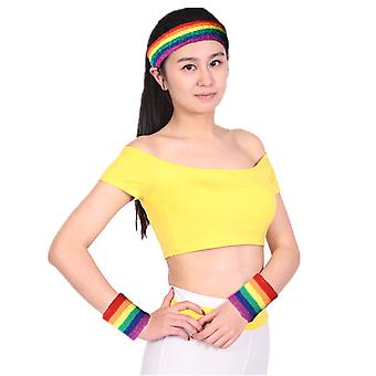 TRIXES Headband and Sweatband One Size Exercise Fun Sport Runs Pride Events