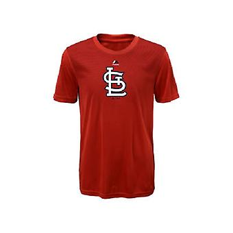 St. Louis Cardinals MLB Majestic Youth Geo Strike Cool Base Tee