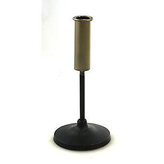 Leuchter schwarz/gold H20 cm