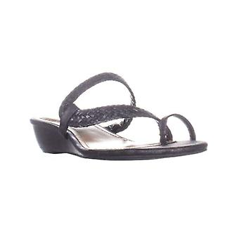 Style & Co. Womens Hartlee Fabric Open Toe Casual Slide Sandals